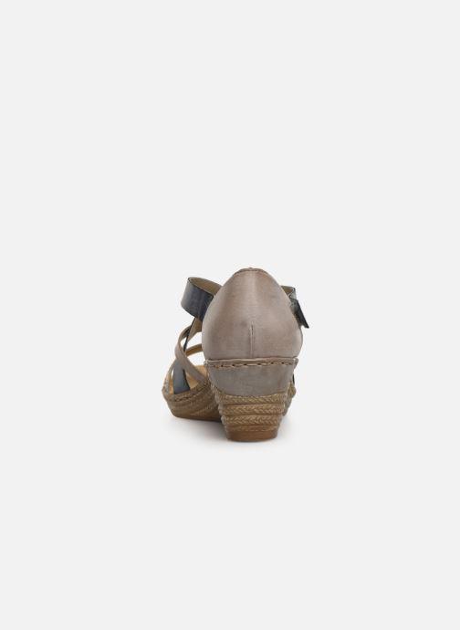 Sandales et nu-pieds Rieker Saria 62405 Gris vue droite