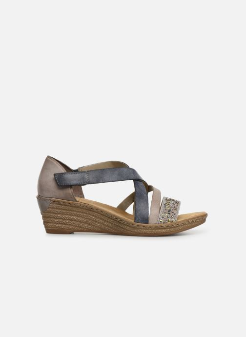 Sandals Rieker Saria 62405 Grey back view