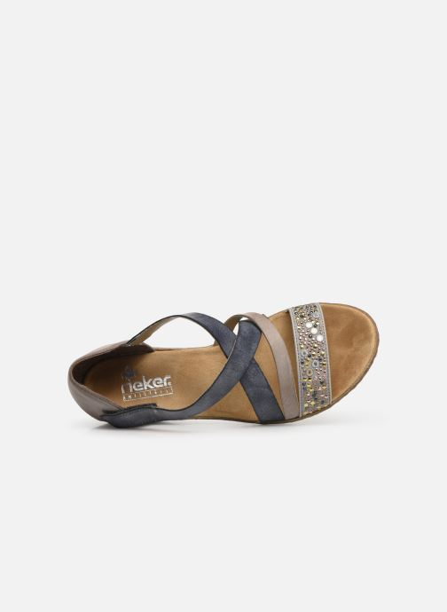 Sandals Rieker Saria 62405 Grey view from the left