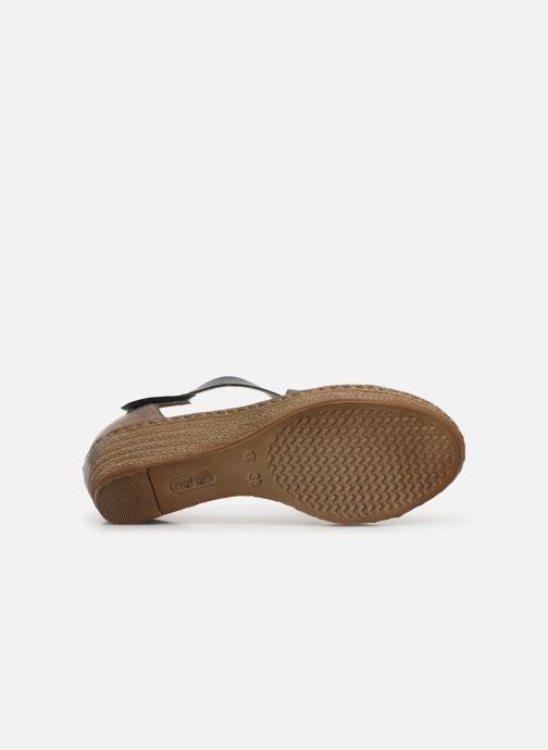 Sandals Rieker Saria 62405 Grey view from above