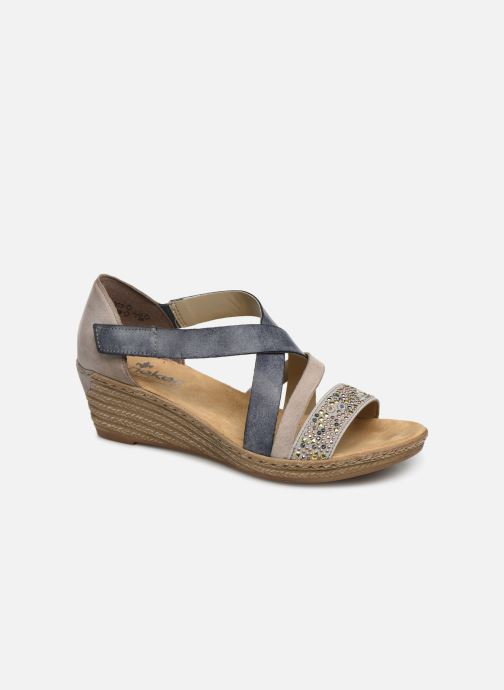 Sandals Rieker Saria 62405 Grey detailed view/ Pair view