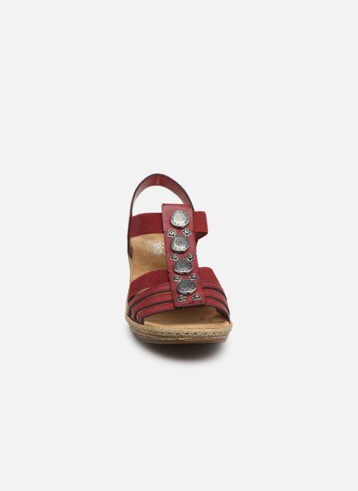 Sandales et nu-pieds Rieker Clea Rouge vue portées chaussures