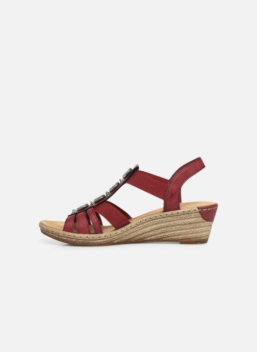 Sandales et nu-pieds Rieker Clea Rouge vue face