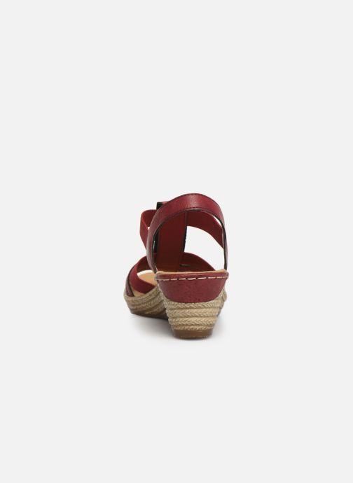 Sandales et nu-pieds Rieker Clea Rouge vue droite