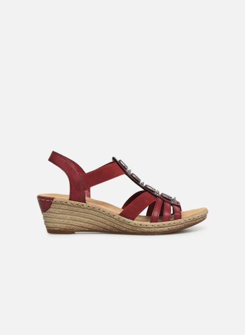 Sandales et nu-pieds Rieker Clea Rouge vue derrière