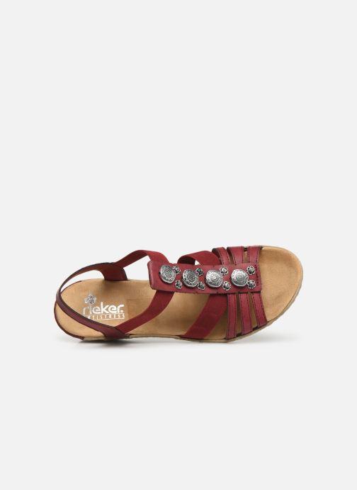 Sandales et nu-pieds Rieker Clea Rouge vue gauche
