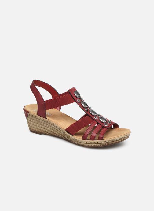 Sandales et nu-pieds Rieker Clea Rouge vue détail/paire