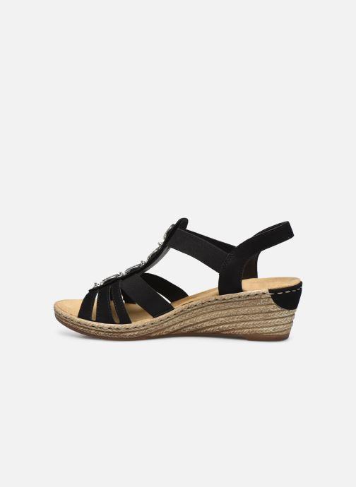 Sandales et nu-pieds Rieker Clea Noir vue face