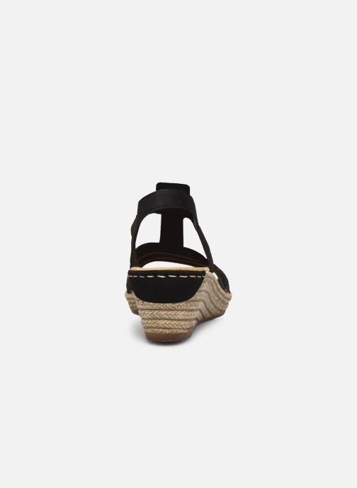 Sandales et nu-pieds Rieker Clea Noir vue droite