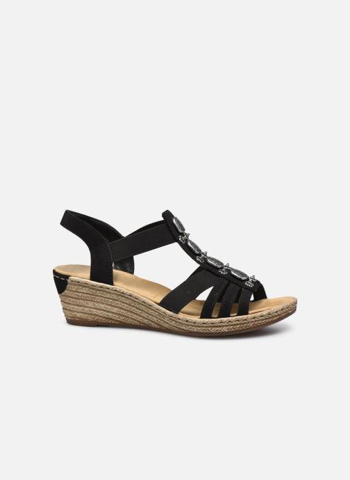 Sandales et nu-pieds Rieker Clea Noir vue derrière