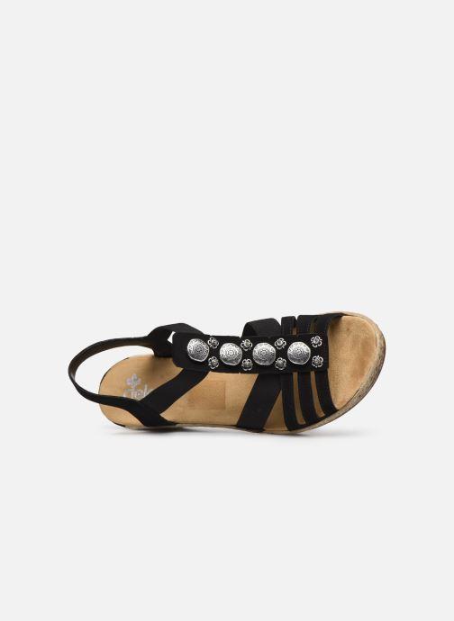 Sandales et nu-pieds Rieker Clea Noir vue gauche