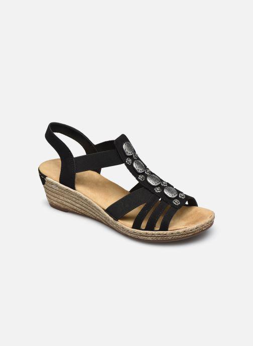 Sandales et nu-pieds Rieker Clea Noir vue détail/paire