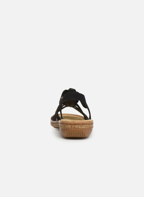 Sandals Rieker Vayana Black view from the right