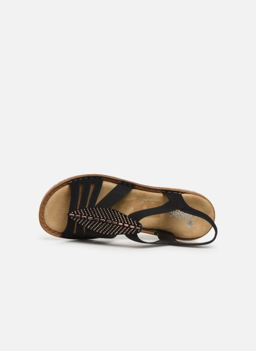 Sandals Rieker Vayana Black view from the left