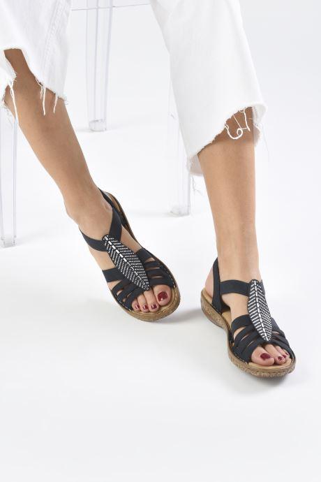 Sandales et nu-pieds Rieker Vayana Bleu vue bas / vue portée sac