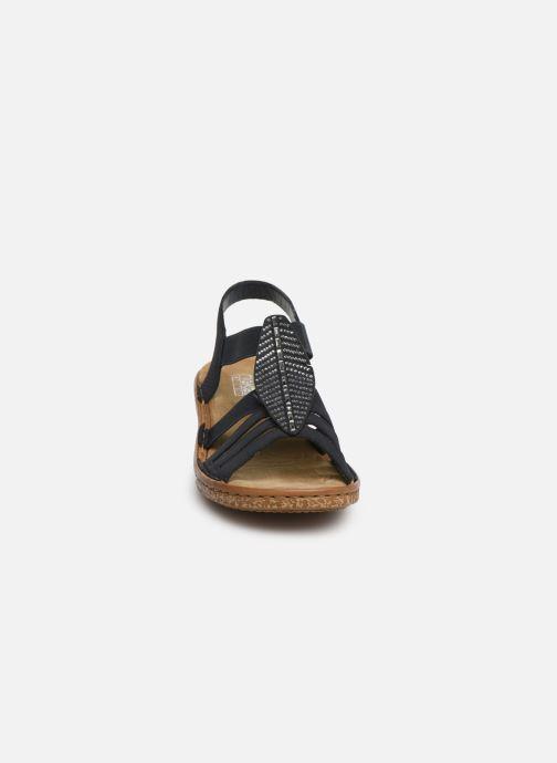Sandales et nu-pieds Rieker Vayana 628G6 Bleu vue portées chaussures
