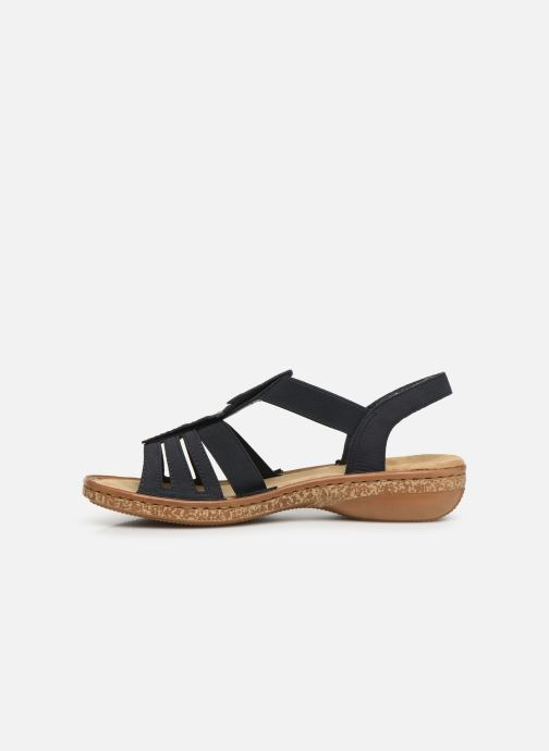 Sandales et nu-pieds Rieker Vayana Bleu vue face