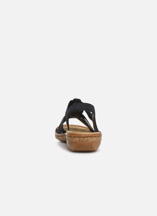 Sandales et nu-pieds Rieker Vayana 628G6 Bleu vue droite