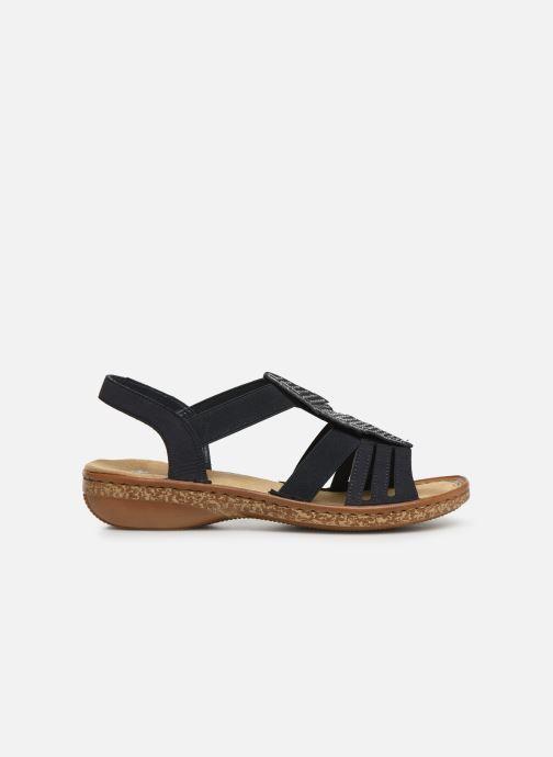 Sandales et nu-pieds Rieker Vayana Bleu vue derrière