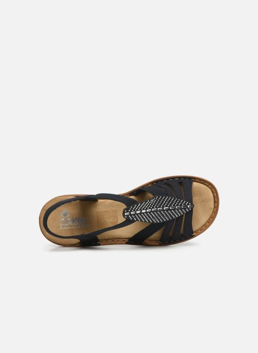 Sandals Rieker Vayana 628G6 Blue view from the left
