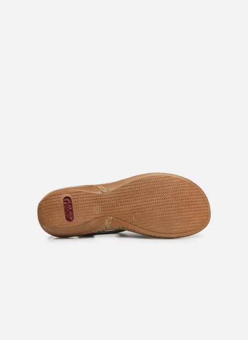 Sandales et nu-pieds Rieker Vayana Bleu vue haut