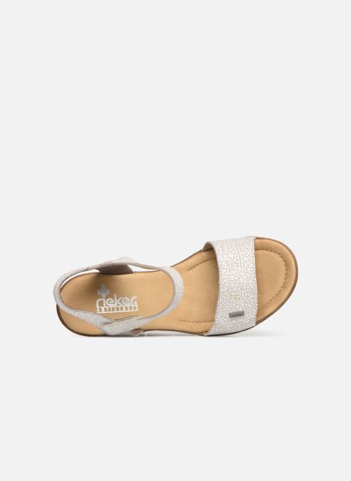 Sandals Rieker Eya 65554 White view from the left