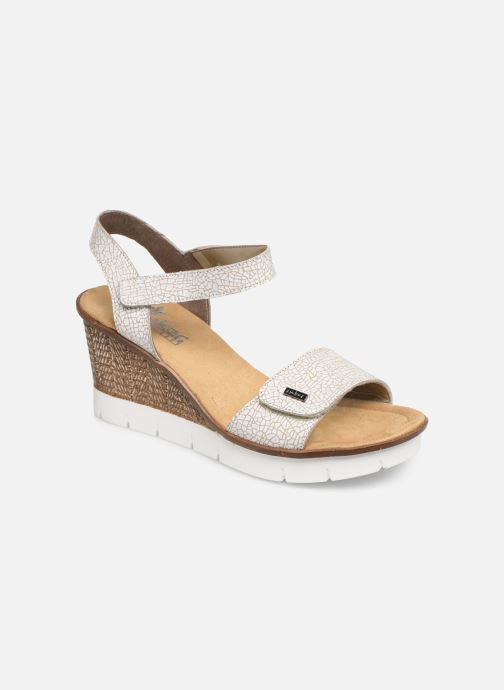 Sandals Rieker Eya 65554 White detailed view/ Pair view