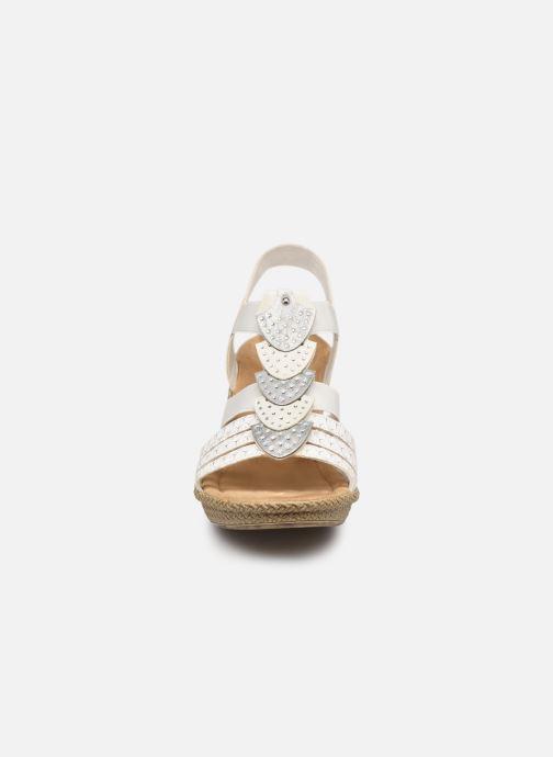 Sandalen Rieker Grace 66514 weiß schuhe getragen
