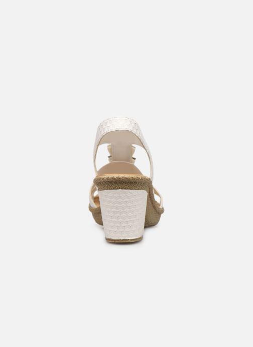 Sandalen Rieker Grace 66514 weiß ansicht von rechts