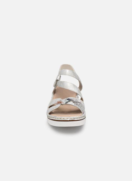 Sandales et nu-pieds Rieker Judie Gris vue portées chaussures