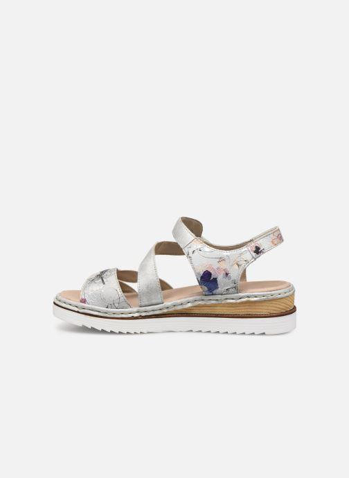 Sandales et nu-pieds Rieker Judie Gris vue face