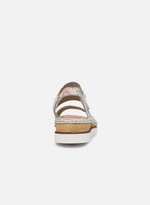 Sandales et nu-pieds Rieker Judie Gris vue droite