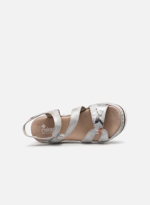 Sandals Rieker Judie 67969 Grey view from the left