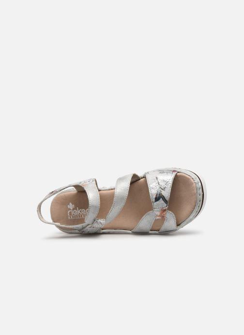 Sandales et nu-pieds Rieker Judie Gris vue gauche