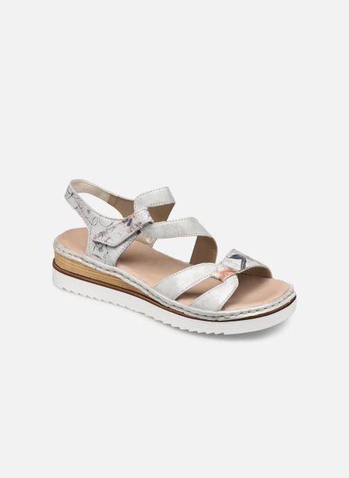 Sandales et nu-pieds Rieker Judie Gris vue détail/paire