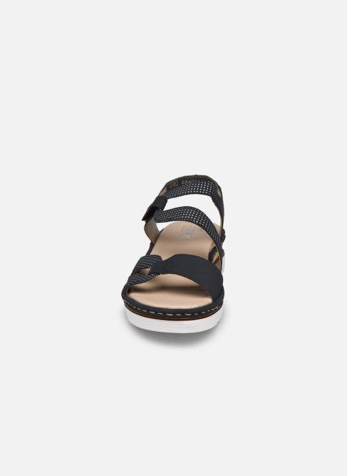 Sandales et nu-pieds Rieker Judie Bleu vue portées chaussures