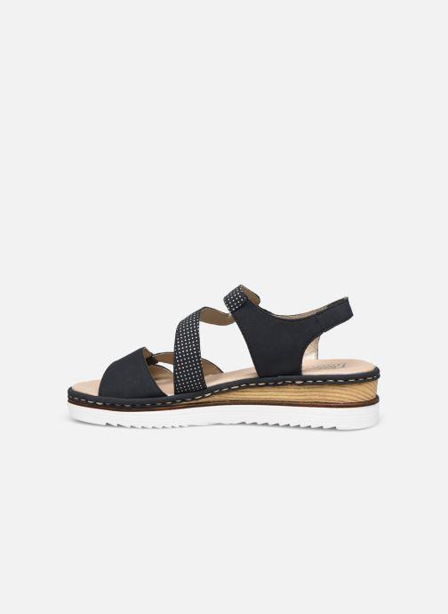 Sandales et nu-pieds Rieker Judie Bleu vue face