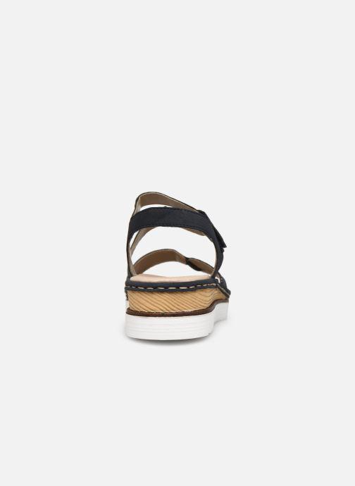 Sandales et nu-pieds Rieker Judie Bleu vue droite