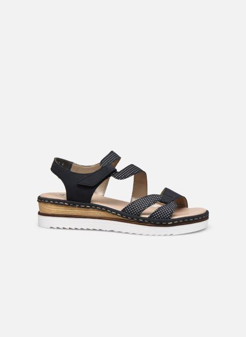 Sandales et nu-pieds Rieker Judie Bleu vue derrière