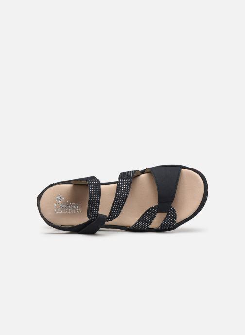 Sandales et nu-pieds Rieker Judie Bleu vue gauche