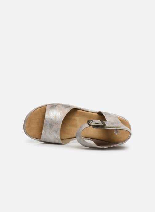 Sandals Rieker Hela 679J4 Silver view from the left