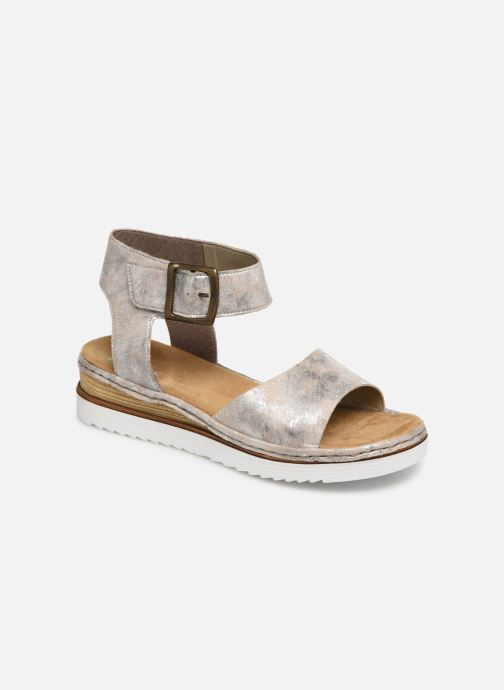 Sandals Rieker Hela 679J4 Silver detailed view/ Pair view