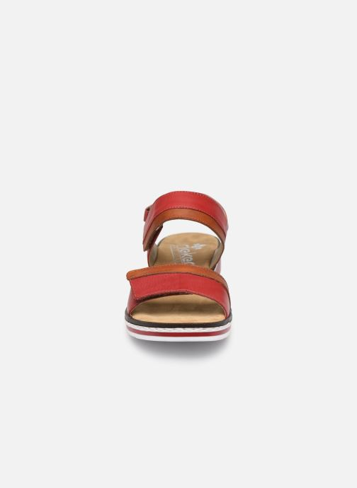 Sandales et nu-pieds Rieker Loly V36B9 Rouge vue portées chaussures