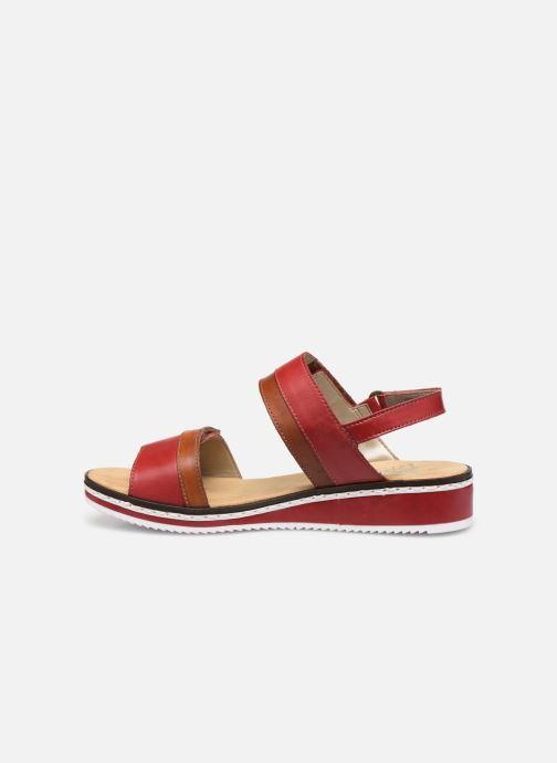 Sandales et nu-pieds Rieker Loly V36B9 Rouge vue face