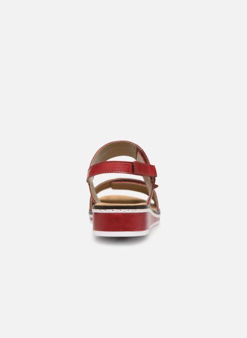 Sandales et nu-pieds Rieker Loly V36B9 Rouge vue droite