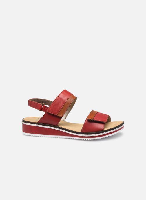 Sandales et nu-pieds Rieker Loly V36B9 Rouge vue derrière