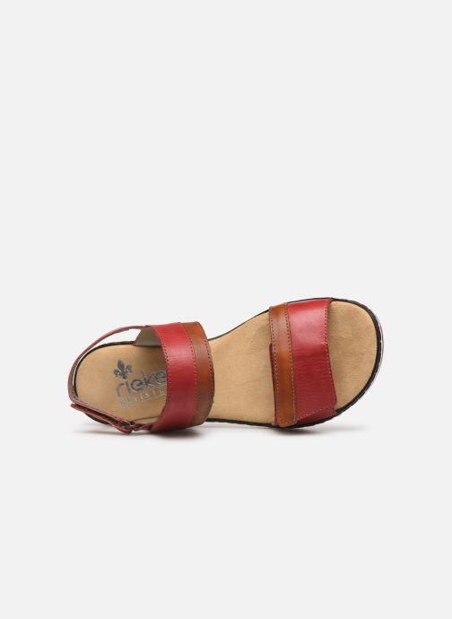 Sandales et nu-pieds Rieker Loly V36B9 Rouge vue gauche