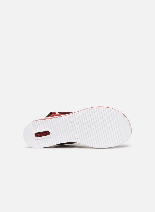 Sandales et nu-pieds Rieker Loly V36B9 Rouge vue haut