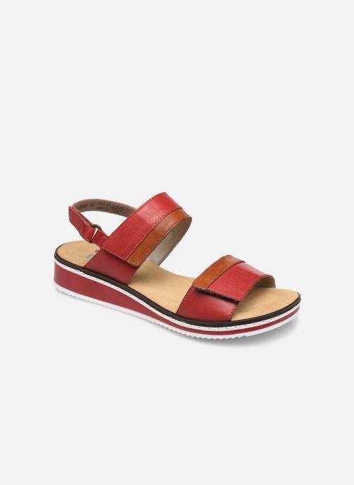 Sandales et nu-pieds Rieker Loly V36B9 Rouge vue détail/paire