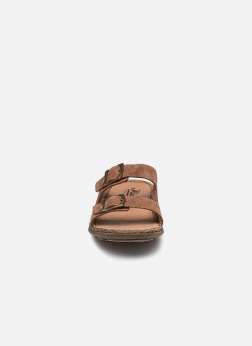 Sandalen Rieker Ayomide 22056 braun schuhe getragen